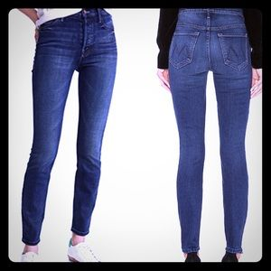 MOTHER High Waisted Stunner Ankle Skinny Jeans